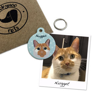 Bespoke Pet Portrait Personalised ID Tag - new in pets