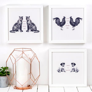 Set Of Three Animal Prints