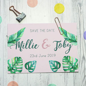 Flamingo Save The Date - save the date cards