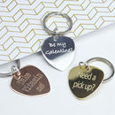 Personalised Music Lover Plectrum Keyring