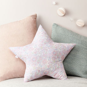 Pink Liberty Cushion Star Shaped - bedroom