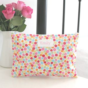 Personalised Overnight Washbag - make-up & wash bags