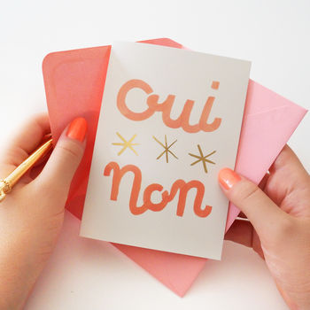 Oui, Non French Card