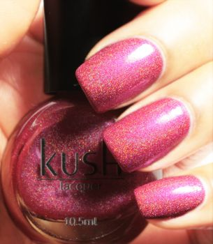 Pixie Pink Holographic Vegan Friendly Nail Polish