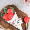 Personalised Bunch Of Biscuit Roses