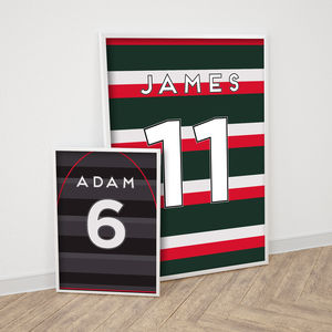 Personalised Rugby Shirt Print - children's room