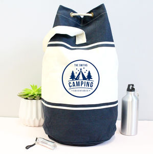 Family Personalised Camping Duffle Bag - men's accessories