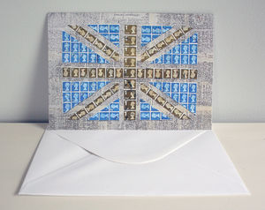 Union Jack Stamp Greetings Card