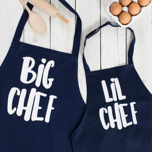 Big / Lil Chef Father And Son Apron Set - gifts for bakers
