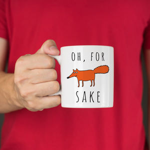 Personalised For Fox Sake Ceramic Mug