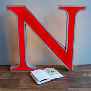 Large N Letter Light - decorative accessories