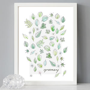 Greenery Leaves Print