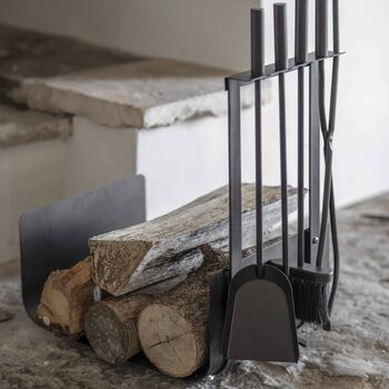 Log Holder With Set Of Four Tools