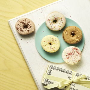 Doughnut Macarons Box Of Five - gifts for her