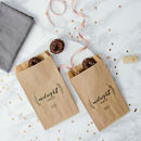 Personalised Set Of 10 'Midnight Snack' Bags
