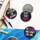 Slogan Pocket Mirrors