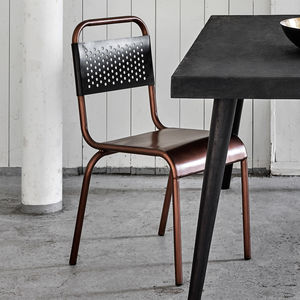 Cafe Chair In Copper And Black - furniture