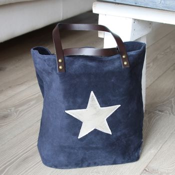 Suede Star Tote