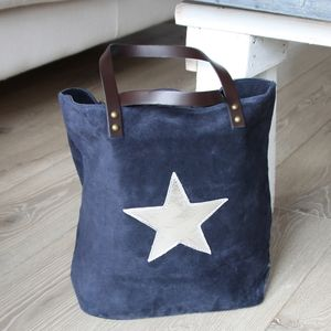 Suede Star Tote - bags