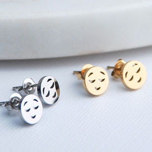 Emoji Stud Earrings - earrings