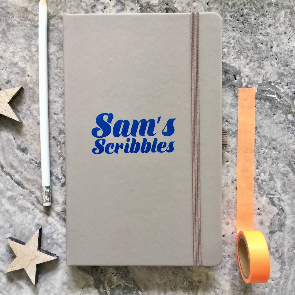 Personalised 'Scribbles' Notebook