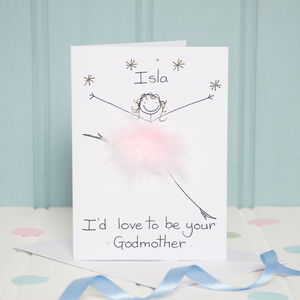 Personalised I'd Love To Be Your Godmother Card - be my godparent?