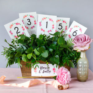 In Bloom Table Plan And Table Number Cards
