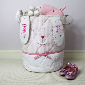 Personalised Bunny Toy Bag - toy boxes & chests
