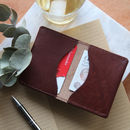 Personalised Slim Leather Wallet For Cash And Cards