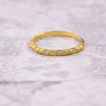 Gold Plated Limited Edition Stone Decorated Ring