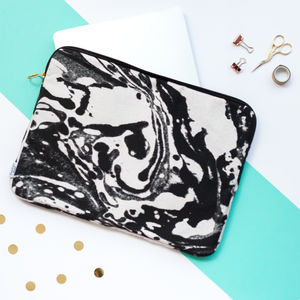Marble Print Laptop Or Tablet Case