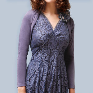 Shrug In Purple Smoke Fine Knit - women's fashion