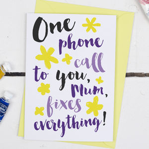 You Fix Everything, Mother's Day Card