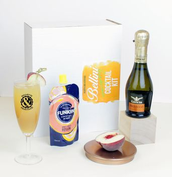 Emergency Bellini Cocktail Kit With Glass Keepsake