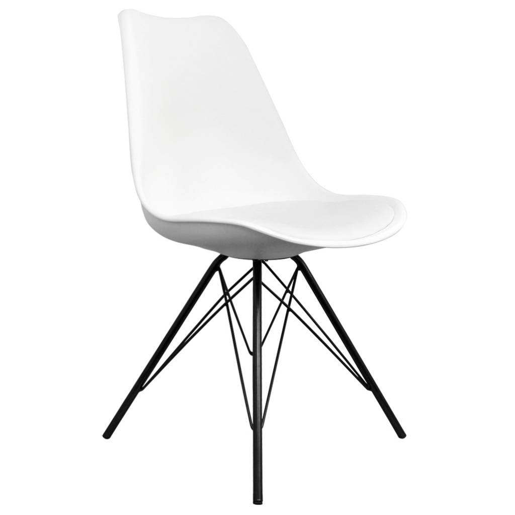 White Copenhagen Chair With Black Metal Legs By Circle