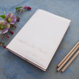 Leather Wedding Memories Book - albums & guest books