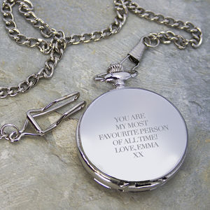 Personalised Heritage Dual Side Pocket Watch - men's jewellery