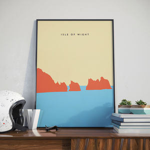 Isle Of Wight Poster, Print. Poster. The Needles Poster