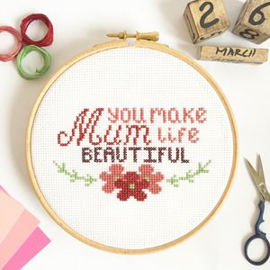Mother's Day Cross Stitch Kit