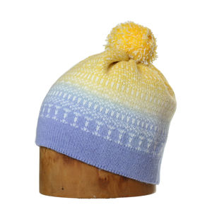 Minter Hand Dyed Merino Wool Bobble Beanie Hat Blellow - men's accessories