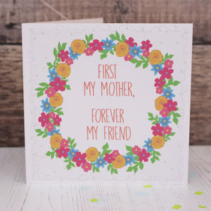 'Forever My Friend' Mother's Day Card - sentimental cards