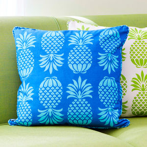 Pineapple Print Cushion - living room
