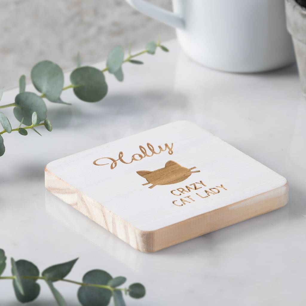 Personalised Cat Lady Coaster