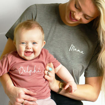 Matching Mama And Child Personalised T Shirts