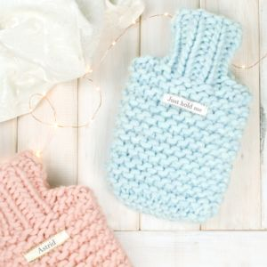 Personalised Super Chunky Knitted Mini Hot Water Bottle