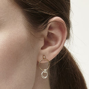 Lucy Gold And Silver Earrings