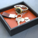 Leather Coin And Accessory Tray