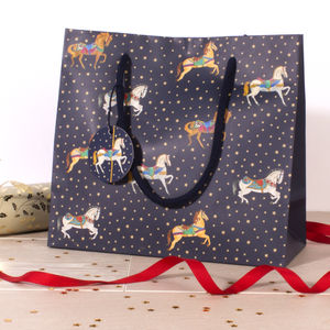 Carousel Small Gift Bag - gift bags & boxes