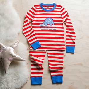 Personalised Dinosaur Pyjamas - christmas clothes for babies and children