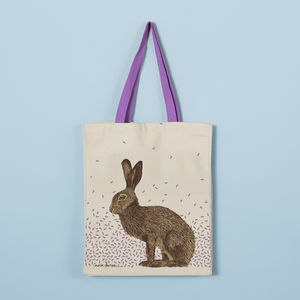 Hare Canvas Tote Bag - shopper bags